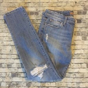 Distressed Joes Jeans Skinny Ankle Jeans 30